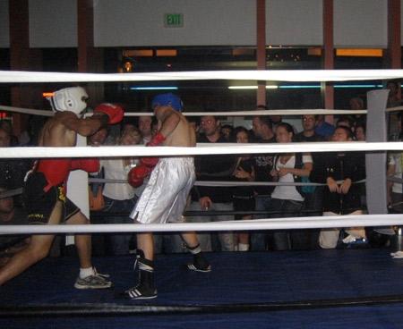 Johnny punching Dmitry