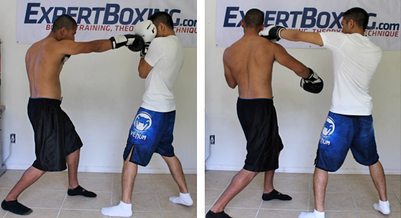 right hand counter 6 block and left hook