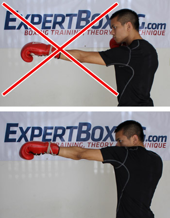 jab with lifted shoulder