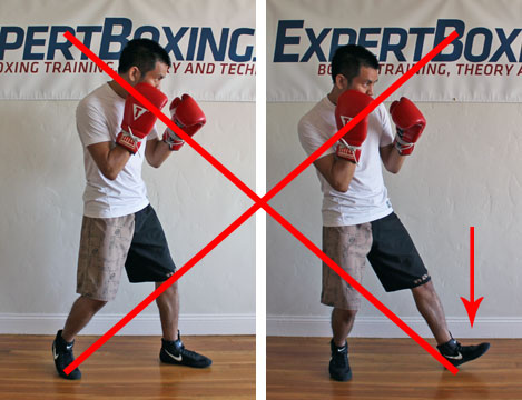 boxing footwork tips - heel push