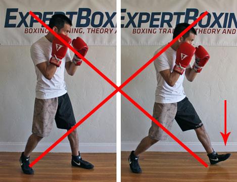 boxing footwork tips - heel step
