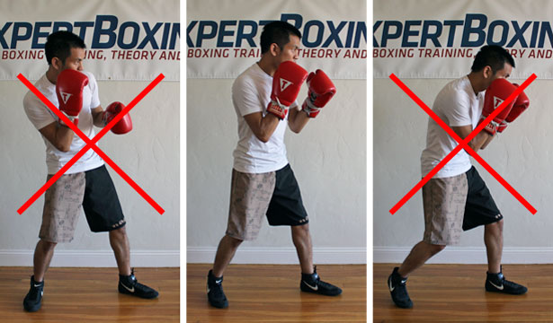 boxing footwork tips - straighten your spine