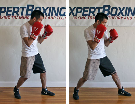 boxing footwork tips - toe push