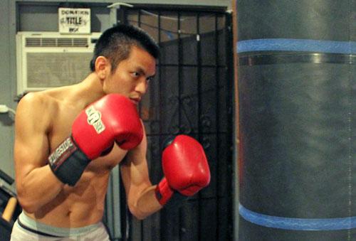 Entrenamiento con el saco de boxeo
