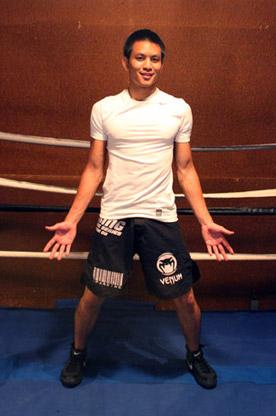 Ancho Perfecto de la Postura de Boxeo